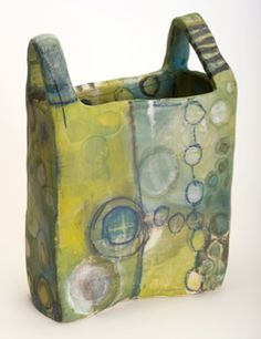 Brenda Holzke | This is ceramic, actually, but it sure looks as tho it could be felt.