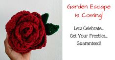 Grab your Crochet Freebies before the campaign is over! If you've never crocheted a flower, now's the time. To promote, the up coming Crochet Flower Box, Flawless Crochet Flowers has an awesome campaign going on right now. It's a fun game, but better. The prizes are all guaranteed to everyone. No contest. Check it out!