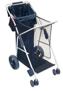 RIO Gear Wonder Wheeler Big Wheel Folding Beach or Sports Cart with Tote Bag Folding Cart, Folding Wagon, Hand Dolly, Portable Pools, Beach Wagon, Beach Cart, Shade Tent, Fishing Chair, Beach Camping