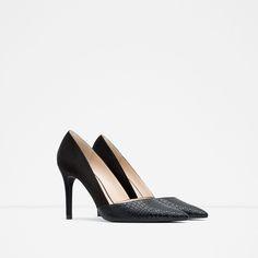 Image 2 of CONTRAST HIGH-HEEL SHOES from Zara High Heels, Shoes Heels, Pumps, Zara Women, Ss16, Cheap Fashion, Kitten Heels, Shoe Bag, Earth