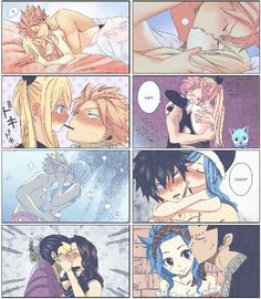 NALU, GRUVIA and BaCana   Fairy Tail Couples except for Natsu and Lisanna XD