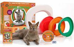 Litter Kwitter Cat Toilet Training System & Reviews | Wayfair Cat Health Care, Cat Toilet Training, Train System, Septic System, Cat Room, Cat Accessories, Cat Stuff, Fur Babies, Room Ideas