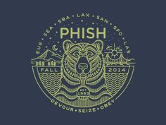 Here's a little nugget I did for Phish for their fall tour. Mt. Hood on the left side of the bear to start the tour and the Golden Gate Bridge on the other, as the tour comes to a close. Pick up yo...