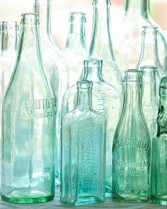 Antique Vintage Decor Antique bottles no. old blue green bottles in morning light photo with sea glass colors on Etsy - Antique Bottles, Vintage Bottles, Bottles And Jars, Antique Glass, Glass Bottles, Vintage Perfume, Mason Jars, Perfume Bottles, Apothecary Bottles