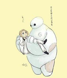 Naki and Baymax ||| Tokyo Ghoul + Big Hero 6 Fan Art