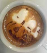 snoopy & pumpkin head latte art ♥ Snoopy ♥ Coffee