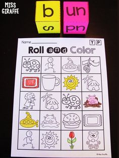 Short U CVC words game and so many cute word rolls! Short Vowel Activities, First Grade Activities, Phonics Activities, Kindergarten Activities, Preschool, Sight Word Sentences, Cvc Word Families, Phonics Sounds, Reading Practice