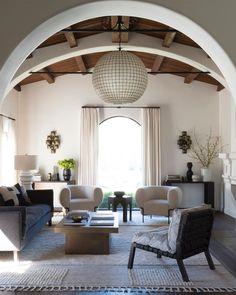 Spanish Revival Home, Spanish Style Homes, Living Room Decor Inspiration, Interior Design Inspiration, Living Room Designs, Living Spaces, Small Living, Modern Living, Living Rooms