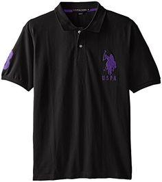 30781582 Mega Shop | U.S. Polo Assn. Men's Solid Short-Sleeve Pique Polo Shirt.  4Mytop Men's Fashion