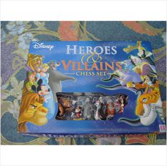 Disney Heroes and Villians Chess Set