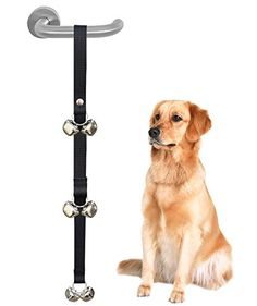 She-love Potty Doorbells Housetraining Dog Doorbells Tinkle Bells for House Training Potty Training Black >>> Want to know more, click on the image.