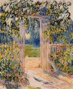 La Porte du jardin (C Monet - W 691),1881.