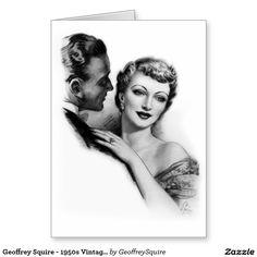 Geoffrey Squire - 1950s Vintage Advertising Art Greeting Card