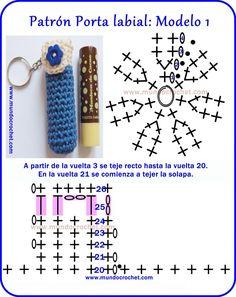 Patron-Portalabiales-llaveros-souvenir a crochet o ganchillo