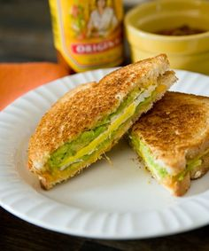 Grilled cheese, egg and avocado sandwich. Needing this soon!!!!
