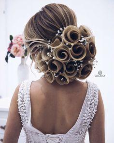 ac duzumunun videosunu gormek isteyen kollegalarim, gelinlerim bir azdan paylashim edecem _____________________________ Мои дорогие - wedding and engagement photo Up Hairstyles, Wedding Hairstyles, Medium Hair Styles, Curly Hair Styles, Hair Medium, Pinterest Hair, Hair Vine, Hair Art, Gorgeous Hair
