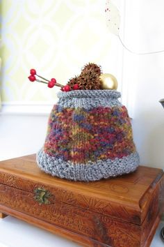 Knit a Basket to Use Up Some Stash