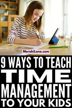 How to Teach Time Management to Kids | If your child struggles with planning, organizing, and staying on task, this post has lots of great tips and ideas to help you teach time management skills. Whether you're trying to create high level daily schedules to teach your kids independence, or you specifically need to create a homework routine so your evenings run more smoothly, these tips will improve your child's executive functioning skills so they can manage their time better! Daily Schedules, Routine Chart, Academic Planner, Time Management Skills, Executive Functioning, Planning And Organizing, Gross Motor Skills, Brain Breaks, High Level