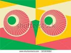 Art deco border template vector/ Geometric Owl/ polygonal illustration of owl/ vector - stock vector