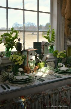 An Irish Blessing and St. Patrick's Day Table Inspiration in the Potting Shed | Home is Where the Boat Is