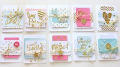Heidi Swapp Cards made using Project Life Product