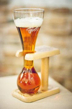 KWAK, Belgium. The name comes from the sound it makes as the beer splashes all over your face when you reach the bottom of the glass ! Epic ! :))