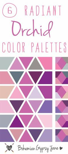 Here are 6 great colour palette combinations to use when working with 'Radiant Orchid'. http://astuteinteriors.com.au