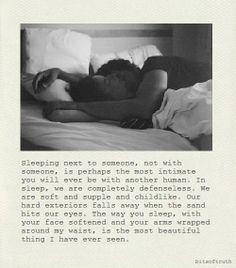 sleeping next to you <3