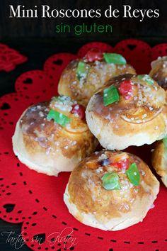 Tartas sin Gluten .....365 dias sin gluten: Mini Roscones de Reyes #singluten Gluten Free Diet, Gluten Free Recipes, Donuts, Food Art, Reyes, Holiday Recipes, Muffin, Chocolate, Breakfast