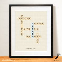 Father's Day gift idea Father's day print by WordBirdShop on Etsy