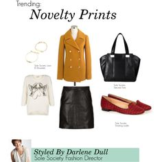 """""""Trending: Novelty Prints"""" by solesociety on Polyvore"""