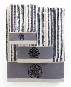 Bianca Bath Towels, Aquarelle Shale Embroidery Collection - Bath Towels - Bed & Bath - Macy's