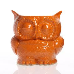 Owl Planter Large Orange, $39, now featured on Fab. - for utensils