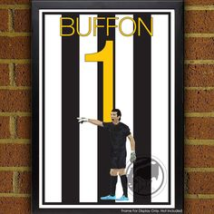 Juventus Legend Gianluigi Buffon 1 Poster - Juventus Soccer Poster-  poster, art, wall decor, home decor, world cup winner by Graphics17 on Etsy