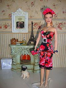 Fashion Costume Set 9 Parts for Vintage/ Fashion Royalty Barbie dolls (item #1284478) NEW IN STOCK ! 9 PARTS FASHION COSTUM SET WITH FLORAL PRINT FOR FR / VINTAGE / COLLECTOR BARBIE DOLLS ! WORLDWIDE SHIPPING ! NO DOLL AND NO SHOES ! PAYPAL ONLY ! http://www.dollshopsunited.com/stores/Dominique/items/1284478/Fashion-Costume-Set-Parts-for-Vintage-Fashion-Royalty