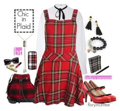 """""""Chic in Plaid"""" by florymcintee ❤ liked on Polyvore featuring ADAM, Barneys New York, Alexander Olch, Nintendo, jewelry, bellastreasure and chicplaid"""