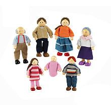 White Caucasian Hearthsong New Wooden Dollhouse Doll Father Dad Old Man