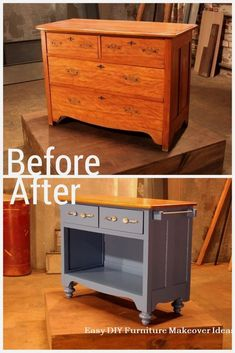 Do not throw away old furniture - 29 upcycled furniture projects that you love . Diy Furniture Easy, Diy Furniture Projects, Refurbished Furniture, Repurposed Furniture, Kitchen Furniture, Furniture Makeover, Upcycling Projects, Rustic Furniture, Furniture Dolly