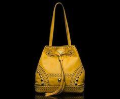 Bolsos Prada primavera verano 2014: fotos de modelos - Prada bombonera amarilla