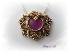 Leia Pendant beaded by Francine Dufresne. Well done with Lunasoft!!! Thank you for sharing!