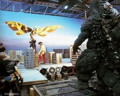 On the set of GODZILLA, MOTHRA, MECHAGODZILLA: TOKYO S.O.S.
