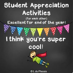 End of year Student Appreciation Activities. By students, for students. Includes:  Friendship Cootie Catcher / Fortune Teller (UK & USA Spelling).  Friendship Award Certificate (students create it).  Friendship Flower Power Craft & Acrostic Character Poem. These are real hands on activities that will keep your students well occupied and stimulated.