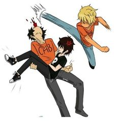 Percy: Nico come on I'm totally your type!  Nico: Percy STAHP  Will: PERCY HES MINE!!!!!