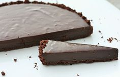 Raw Chocolate Raspberry Ganache Tart