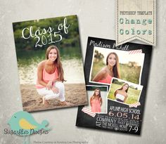 Graduation Announcement PHOTOSHOP TEMPLATE -  Senior Graduation 42 by SugarfliesDesigns on Etsy https://www.etsy.com/listing/222291186/graduation-announcement-photoshop