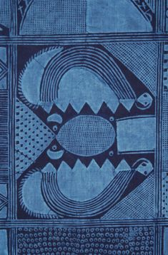 Africa   Adire Eleko from the Yoruba people of Nigeria. Circa 1960. Cotton