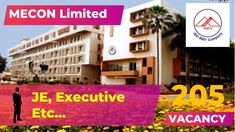 MECON Limited Recruitment 2019 205 JE, Executive Online Form Open