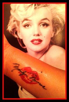 My Marilyn Monroe tattoo!! Marilyn Monroe, Tattoo ... I love Marilyn and I love this tattoo!! Is it weird that I want it