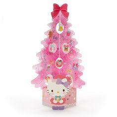Hello Kitty Christmas Card (Pink Tree) Christmas Is Coming, Christmas Cards, Christmas Decorations, Christmas Ornaments, Hello Kitty Christmas, Pink Trees, Sanrio, Princess Peach, Christmas Sweaters