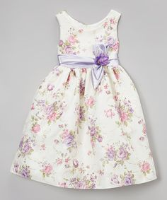 Another great find on #zulily! Lilac Rosette Sash Dress - Toddler & Girls #zulilyfinds